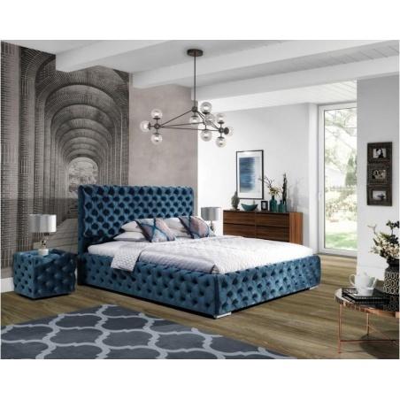 Łóżko tapicerowane Havana z pojemnikiem na pościel