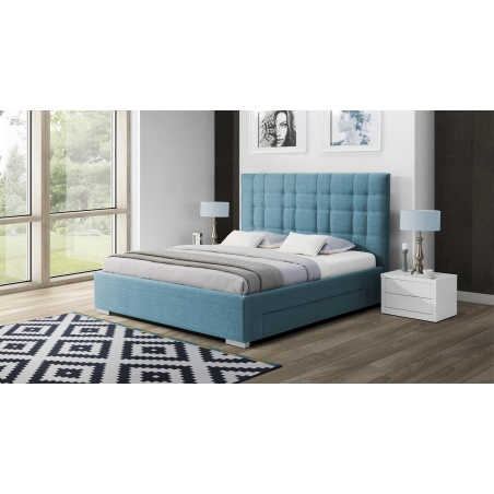 Łóżko tapicerowane Suita z pojemnikiem na pościel