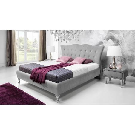 Łóżko tapicerowane Princessa z pojemnikiem na pościel