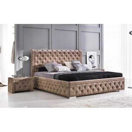 Łóżko tapicerowane Roma z pojemnikiem na pościel