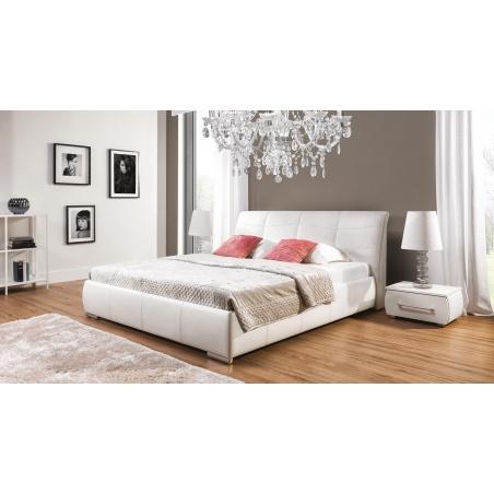 Łóżko tapicerowane Apollo S z pojemnikiem na pościel