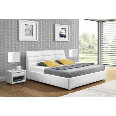 Łóżko tapicerowane Heros z pojemnikiem na pościel