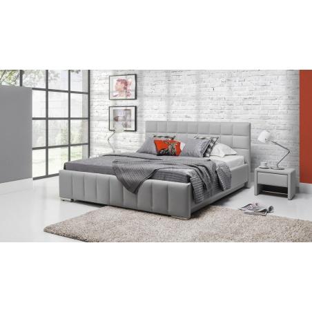 Łóżko tapicerowane Kalipso H z pojemnikiem na pościel