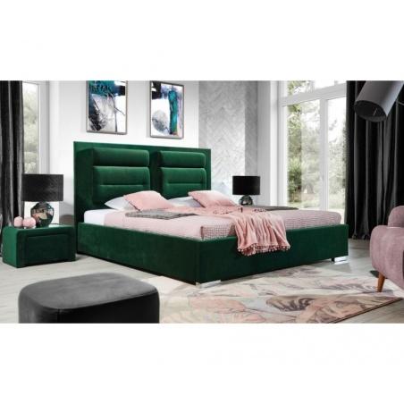 Łóżko tapicerowane Porto z pojemnikiem na pościel