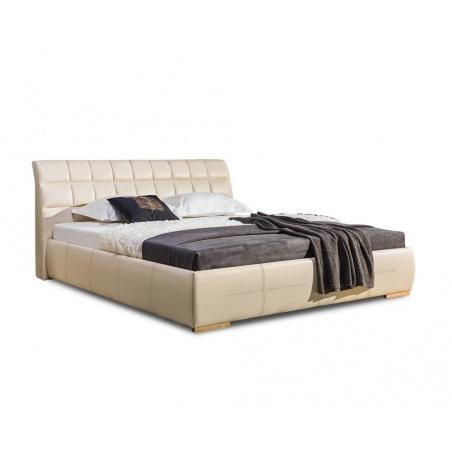 Łóżko tapicerowane Apollo H z pojemnikiem na pościel