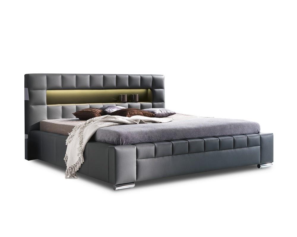 Łóżko tapicerowane Cezar z pojemnikiem New Elegance