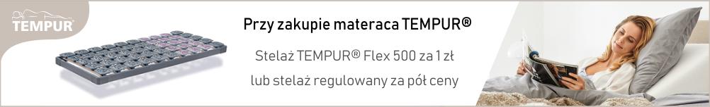 Tempur stelaż za 1zł lub stelaż regulowany za pół ceny!