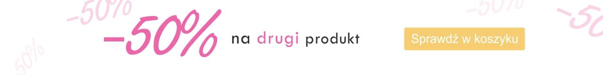 promocja drugi produkt za 50%