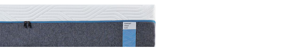 niebieska etykieta materace Tempur Cloud