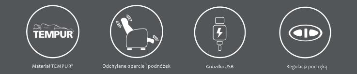 Rozkładany fotel Tempur Altamura salonsnu.pl