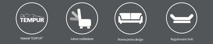 Rozkładana sofa Tempur Ostuni salonsnu.pl