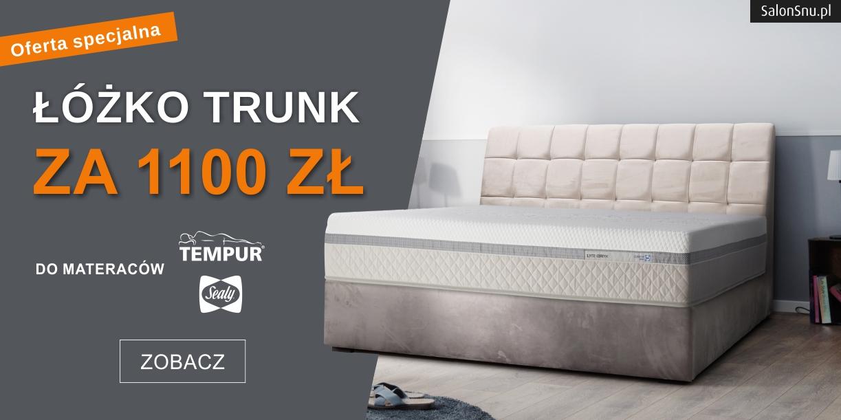 promocja tempur trunk łóżko za 1100 zł na salonsnu.pl